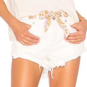 Free People SASHED RELAXED SHORT WHITE 29 NWT